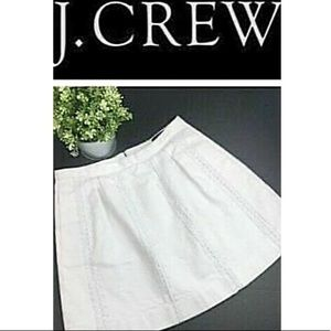 J. CREW LACE STRIPE SKIRT Fully Lined Sz 6